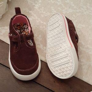 Brown corduroy t-strap 6 new